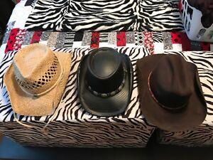 Cowboy hats - straw, leather, felt $20 - $50 - $30