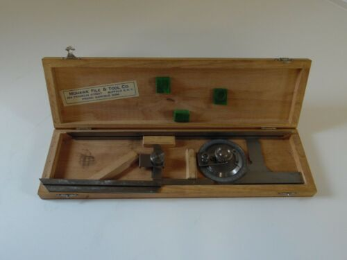 Helios Vernier Bevel Protractor with attachment 6 and 12 inches