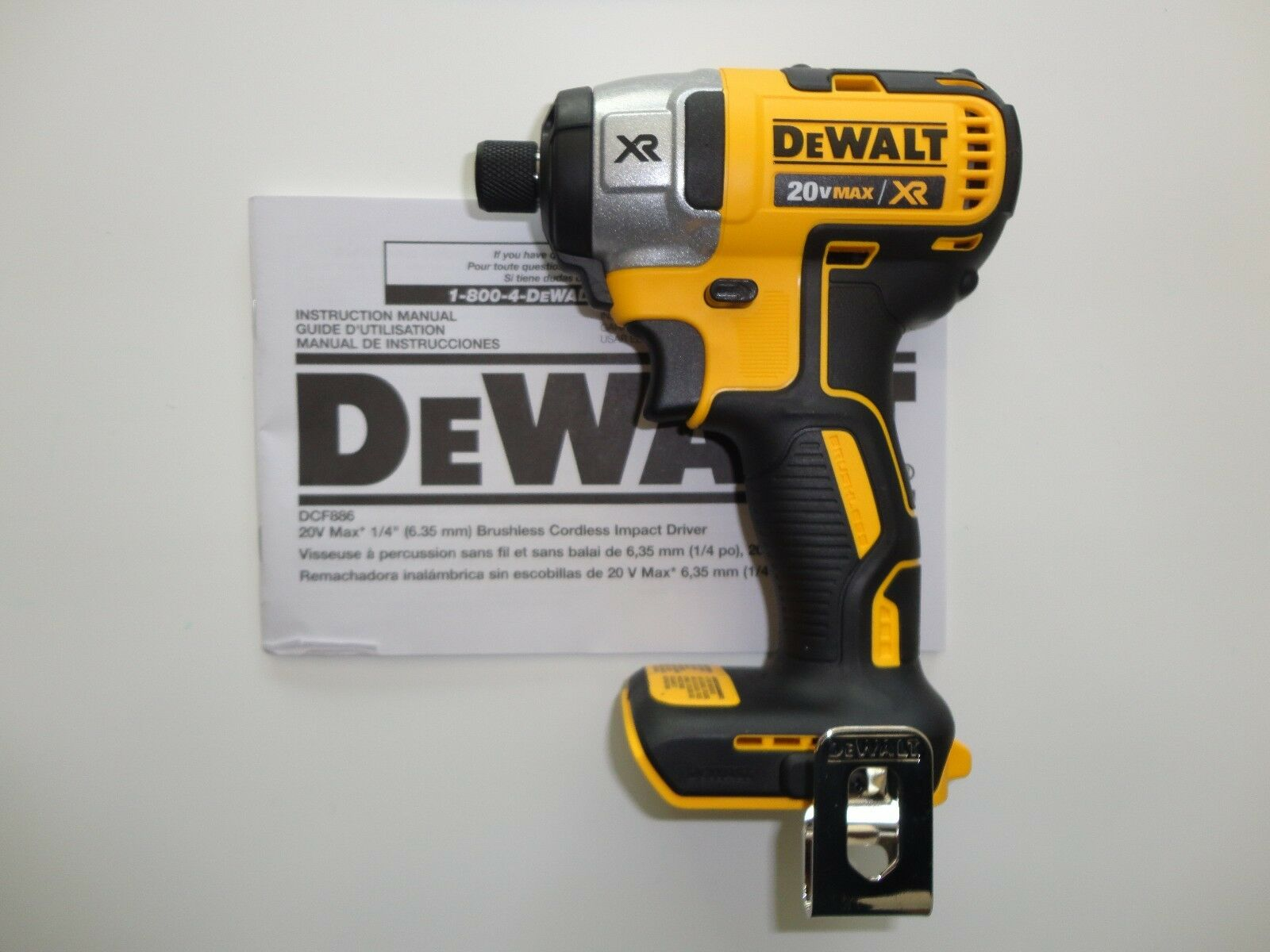 Dewalt 20v 20 volt premium brushless 1 4 impact driver for Dewalt 20v brushless motor