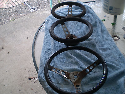 3 gasser or ratrod old school custom steering wheels