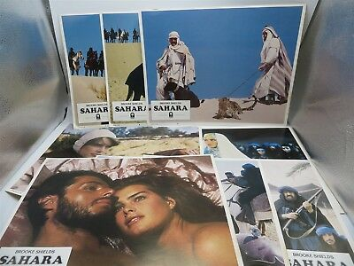 Lot of 8 Movie Lobby Posters - Sahara - Brooke Shields - 1983 Columbia Pictures