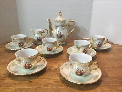 Y.S Miniature Fine Porcelain Tea Set used  Fine Porcelain Miniature
