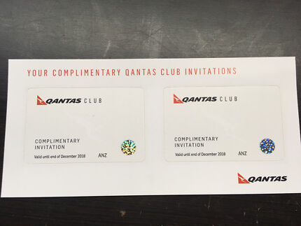 2x Qantas Club Lounge Pass with Registered Post!