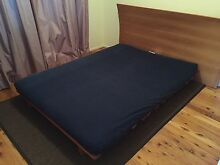 Double Futon Bed Folding (Trifold) - mattress & frame Winmalee Blue Mountains Preview