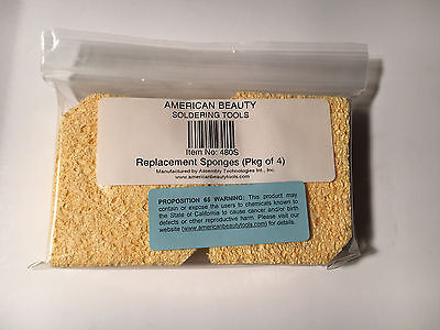 American Beauty 480s Soldering Replacement Sponges Pack Of 4
