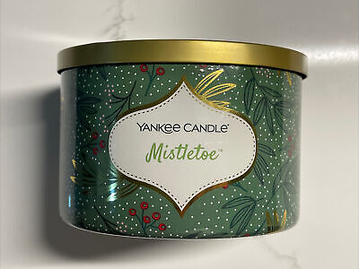 Yankee Candle MISTLETOE - Large 3-Wick Scented Candle 18oz, Buy More & Save