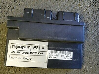 2017 13 17 TRIUMPH STREET TRIPLE R 675 MAIN COMPUTER ECU CDI BLACK BOX