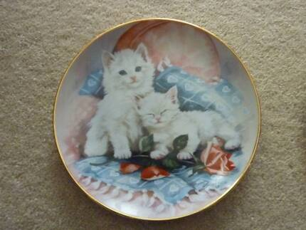 """Franklin Mint Plate """"Purrfectly Precious"""""""
