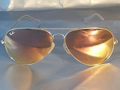 Ray Ban RB3026 Aviator Unisex Sunglasses 62MM Gold Frame/ Rose Pink Lens