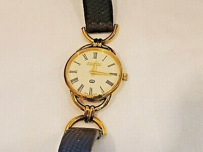 Classic Vintage Gucci 18K Gold Plated Ladies Watch 6 Jewels Missing Case Back