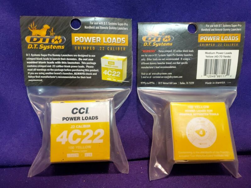 2 pack of DT Systems PwrLoad-Y 100 Medium - Yellow - Power Load