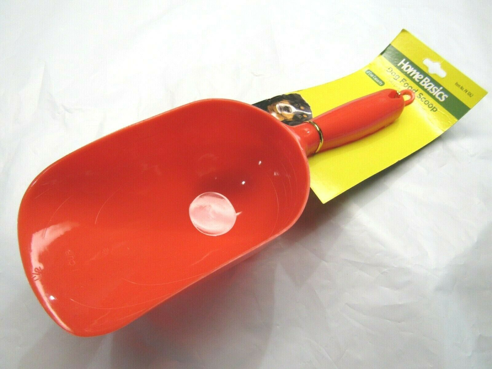 Home Basics 2 Cup Capacity Pet Food Scoop Red Single