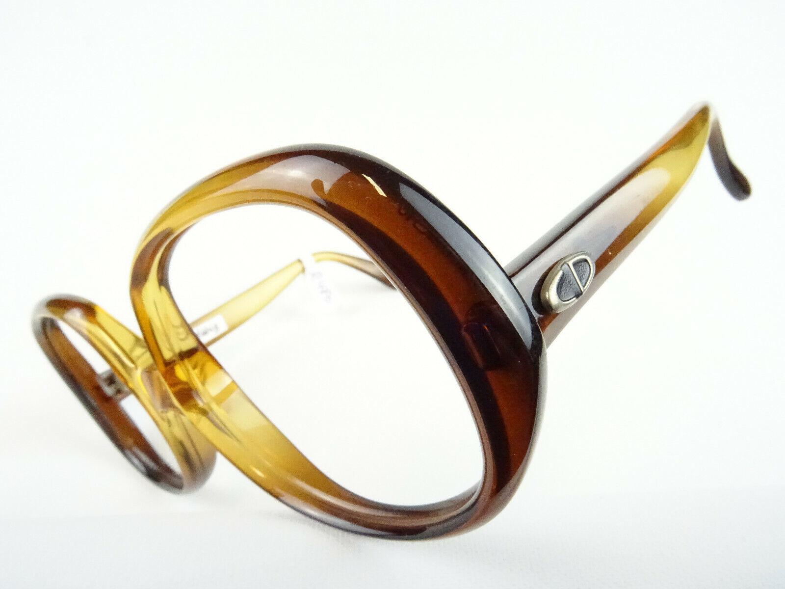 Vintagebrille von DIOR braune Oversizedbrille 70er seltene Damenbrillen Gr. L