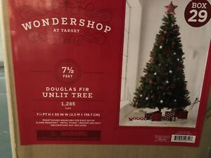 7.5FT UNLIT DOUGLAS FIR ARTIFICIAL CHRISTMAS TREE- mnx