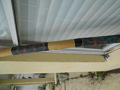 AUSTRALIAN ABORIGINAL DIDJERIDOO 48 inches Made in Indonesia Authentic