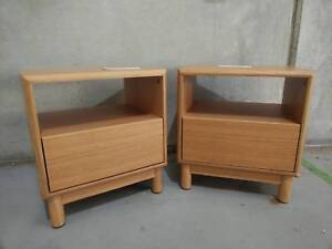 Contemporary - SINGLE DRAWER - BEDSIDE PAIR - FACTORY 2ND - Richmond Yarra Area Preview