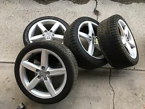 Audi A4 OEM wheels and winter tires