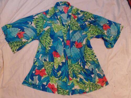 Vintage Catalina FLoral Swim suit wrap Beach Cover up coat M