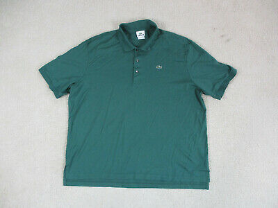 Lacoste Polo Shirt Adult 2XL XXL Size 8 Green Crocodile Casual Rugby Mens