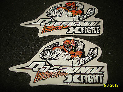 2 AUTHENTIC ROSSIGNOL X-FIGHT TOMBERSTONE PROMOTIONAL STICKERS #8 DECALS