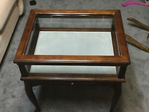 Curio cabinet/ side table