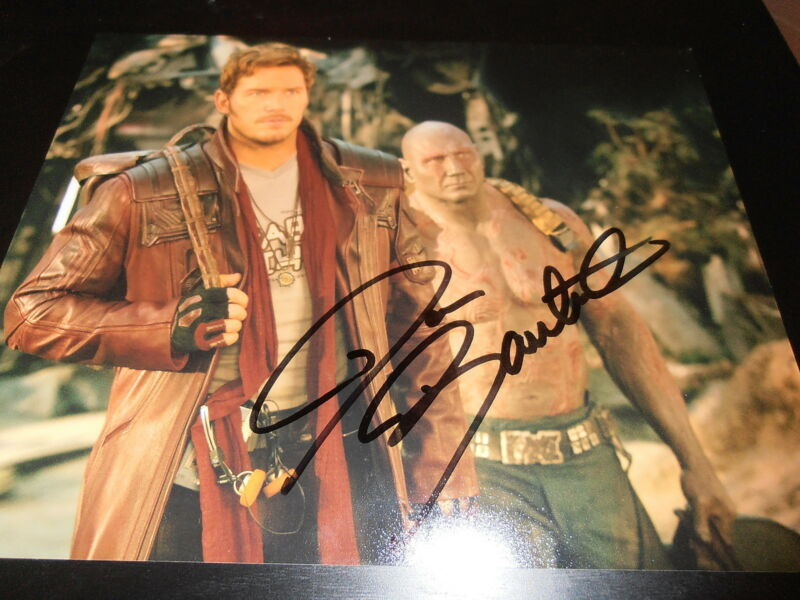 DAVE BAUTISTA SIGNED AUTOGRAPH 8x10 PHOTO GUARDIANS OF THE GALAXY 2 PROMO COA D