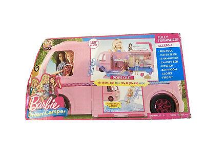 Mattel Barbie Dream Camper Pink RV Bus Home Van Motor Playset - Brand New!