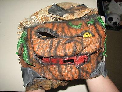 Illusions Rubber Creepy Scary Pumpkin Head Halloween Costume Mask Adult Size - Pumpkin Head Mask Halloween