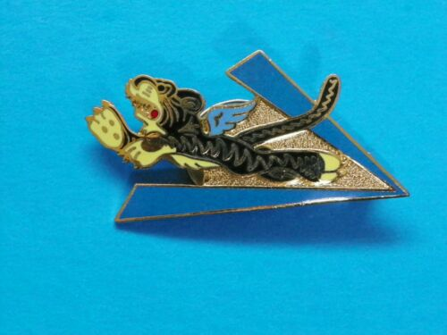 CHINA BURMA INSIGNIA PIN FOR OVERSEAS HAT (RESTRIKE)-MAKER MARKED