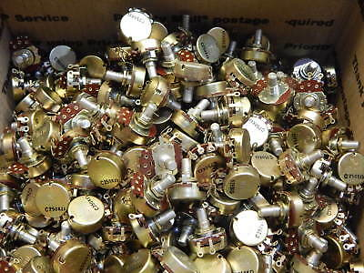 Solder Terminal 250k Ohm Potentiometer 2 Watt 34 Turn Linear -lot Of 350 Pieces