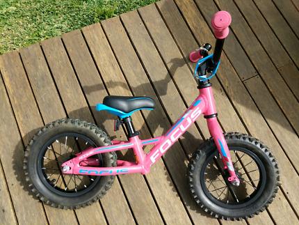 """Toddler /kids balance bike, Focus Raven Rookie 12"""" pink, like new"""