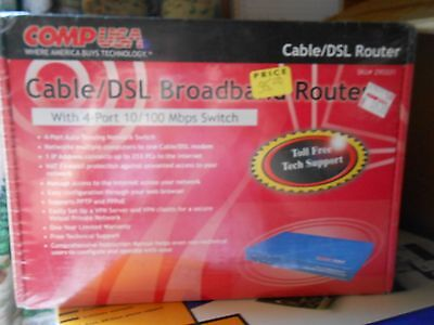 Cable/DSL Broadband Router 4-Port 10/100 Mbps Switch - NEW IN BOX - COMP USA ()
