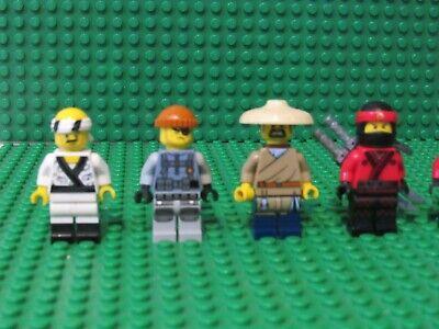 Lot of 5 Lego Ninjago Movie Minifigures Kai Sushi Chef Torben Shark Army Thug N9