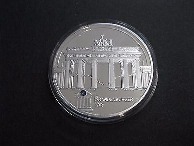 """Medaille  """"Brandenburger Tor""""  PP  mit Stein  in Münzkapsel  -"""