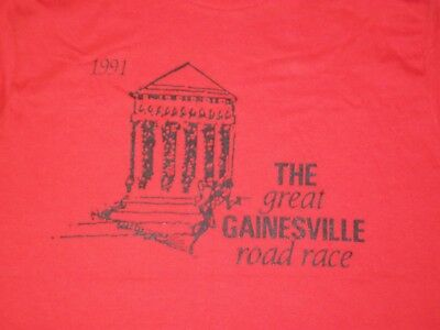 vtg 90s ADIDAS ROAD RACE GAINESVILLE MARATHON t shirt L 50/50 shoes sweatshirt