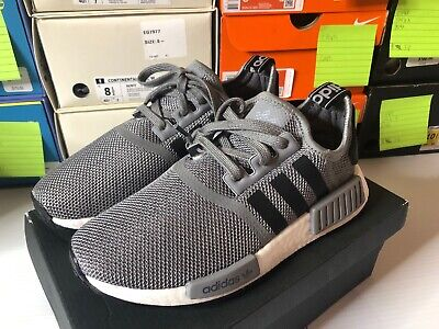 Boys' Big Kids' adidas NMD R1 Casual Shoes Grey/Black/White EG7256 Size 5Y