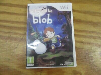 David Crane's A Boy and His Blob: Trouble on Blobolonia Nintendo Wii Disc & Case