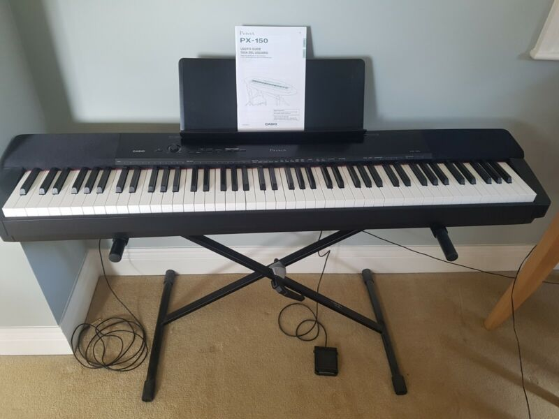 Casio Privia PX-150 digital piano keyboard + pedal + stand: Pls read description