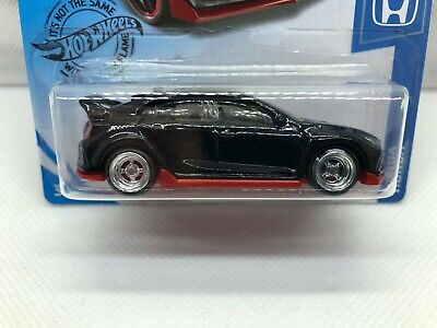 2020 Hot Wheels 2018 Honda Civic Type R Black - SUPER CUSTOM with Real Riders