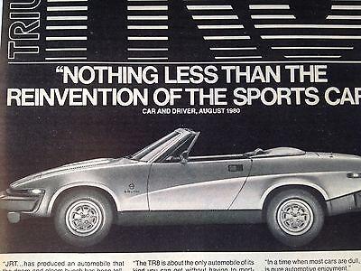 Vintage 1980 Triumph TR8 Original Print Ad British Leyland Motors