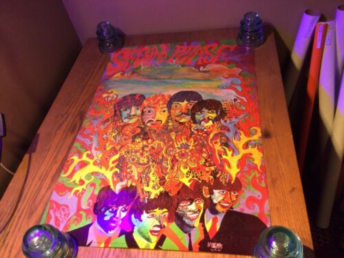 The Beatles Super Rare Vintage 1967 BEATLES SECOND PHASE Psychedelic Poster