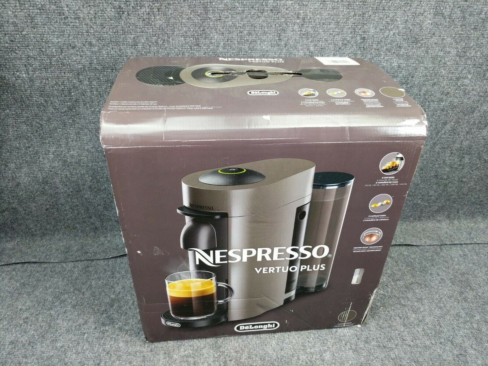 Nespresso Vertuoplus Coffee Espresso Machine Delonghi ENV150