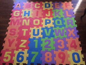 Interlocking Foam Letter and Number Tiles