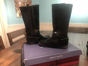 Tommy Hilfiger Girls Leather Boots Size 3