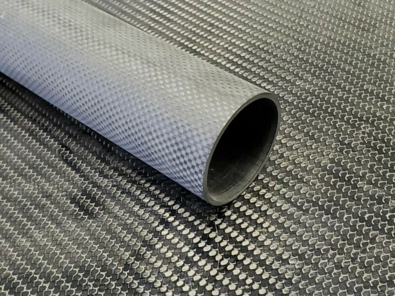 Carbon Fiber Tube Plain Weave 2 x 2.2 x 31.2 inch (listed 8-27-19)