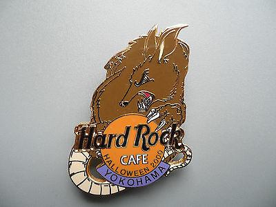 Hard Rock Cafe Yokohama - Halloween - Werewolf Behind HRC Logo Pin - Origin Behind Halloween
