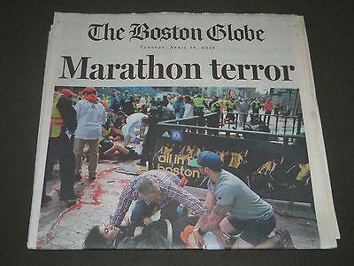 2013 April 16 The Boston Globe Newspaper   Boston Marathon Terror   Np 2555
