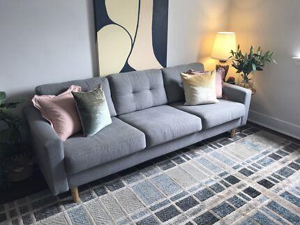 Jazz 3 Seat Sofa in Global Grey