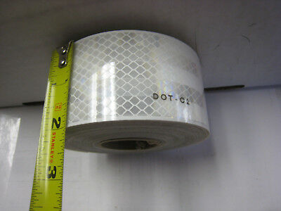 White Reflective  Conspicuity Tape 2 X 25 Feet Dot-c2