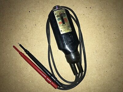 Vintage Square D 5008 Voltage Tester W Leads Dc Polarity
